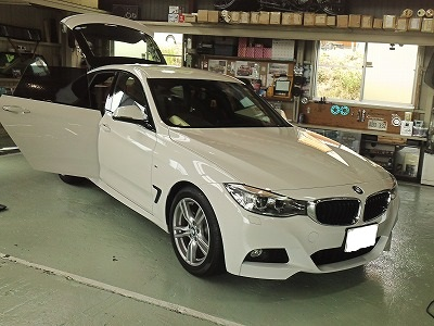 BMWのフィルム施工