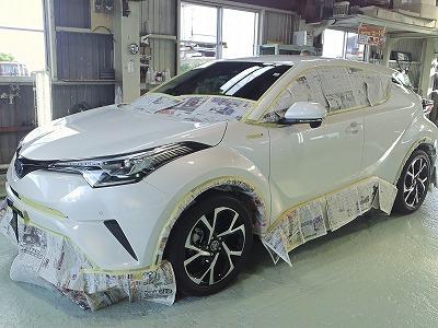 トヨタC-HRのガラスコーティング